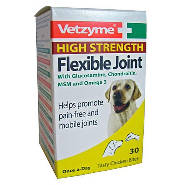 Vetzyme High Strength Flexible Joint Tablets for Dogs
